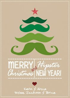 Hipster Christmas Card or Christmas Party Invite