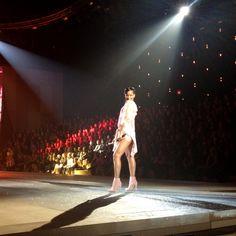 The breathtaking Rihanna works the runway like a pro.