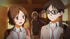 Tsubaki, Kaori & Kousei #ShigatsuWaKimiNoUso (I can't believe I didn't see Kaori there!)