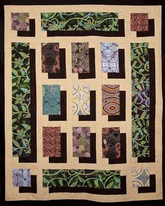Australian Shadows Quilt Pattern-This is by Leah Day, author of the Free-Motion Quilting Project