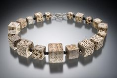 Necklace, ceramic beads     Artist:  Karen Bachmann     http://www.karenbachmanndesigns.com/