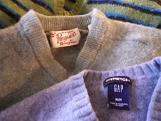 How to Upcycle old Wool Sweaters. A tutorial; Part One - Felting - Acquisition and Transformation I am going to show you how I upcycle wool sweaters.   Transforming  the knit wool fabric into thick durable felt is almost a magical process, (an easy one to do with a washing machine and dryer).  Cutting and sewing that felt into useful items takes some creativity and a very tiny amount of skill.  All in all, it is an easy and inexpensive creative process to ReUse someone else's unwanted…