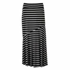 AB Studio Striped Pieced Maxi Skirt