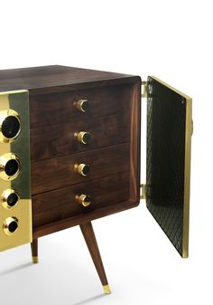 Brass Monocles sideboard by Delightfull | Modern Sideboards | Luxury Furniture | Sideboard Ideas | For more inspirational ideas take a look at: www.bocadolobo.com