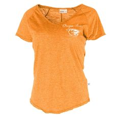 NCAA- Oregon State Beavers Tommy V- Womens Slub V-Neck Tee