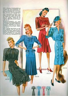 (¯`'•.ೋ…   1941 Wiener Bunte Mode German Pattern Magazine ...Also to take note, in Germany, this is the time of the Nazi Regime.