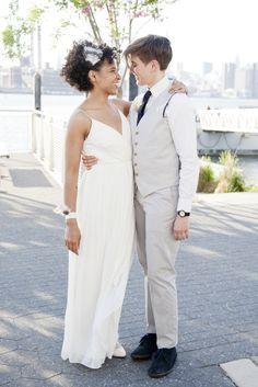 A hip, indoor wedding in Brooklyn, at Cubana Social. (AKA, saver of weddings)