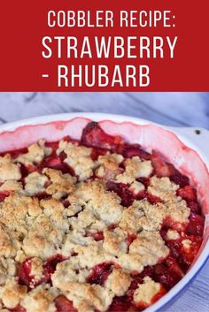 Strawberry Rhubarb Cobbler Recipe plus other amazing strawberry recipes from food bloggers.  Great strawberry dessert recipe.