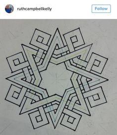 b… – Tattoo Pattern Geometric Patterns, Celtic Patterns, Celtic Designs, Geometric Designs, Geometric Shapes, Islamic Art Pattern, Arabic Pattern, Pattern Art, Geometry Art