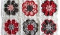 Crocheted baby blanket flowers