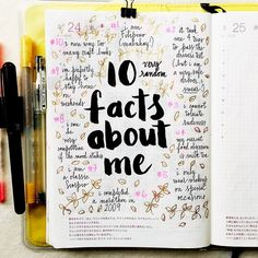 I was tagged by @iheartplanner to share #10factsaboutme  I tag everyone who wants to play along!!  #hobonichi #planner #filofax #diary #notebook #stationery #scrapbooking #mtn #midoritravelersnotebook #midori #travelersnotebook #doodles #doodling #journal #journaling #artjournal #artjournaling #handwriting #handlettering #lettering #calligraphy #type #typography #brushpens #brushlettering #lists #pens #vscocam