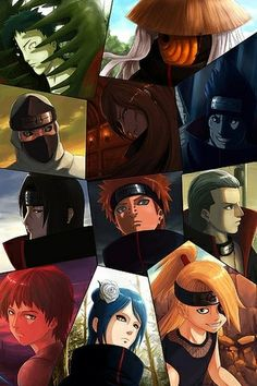 The former members of Akatsuki & the new Akatsuki members.