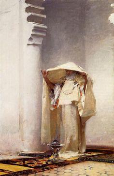 """hourglassofblacktears: """" John Singer Sargent >> Fumée d'Ambre Gris >> 1879-80. """""""