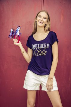 "The softest T'shirt you will ever touch! Made in the USA, we are crazy for this Free Your Heart Apparel ""Southern Belle"" T'shirt!"