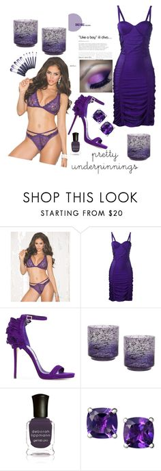 """purple things"" by rachellove22 ❤ liked on Polyvore featuring Shirley of Hollywood, Balmain, Jimmy Choo and Deborah Lippmann"