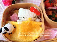 キティちゃん寝てのキャラベン Sleeping Hello Kitty Bento