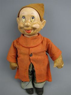 Antique Disney's Snow White Dwarf Dopey Doll Plush | eBay
