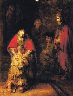 Рембрандт. Возвращение блудного сына. 1666–1669. Государственный Эрмитаж, Санкт-Петербург