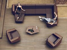 "This Faz furniture from Vondom ... is like ""sitting on chocolate"""