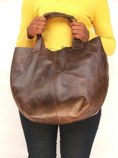 Las mujeres mercado bolsa mujeres bolso cuero marrón por abizema, $79.99