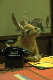 "pipkins - Hartley Hare. ""It's time, for a story"""