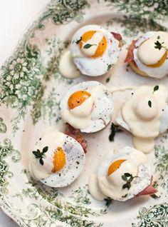 mini eggs benedict!