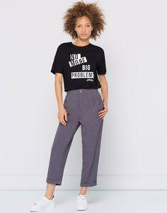 Slogan t-shirt - Prints - T-shirts - Woman - PULL&BEAR Turkey
