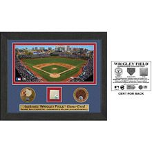 Father's Day gift for Art?   Chicago Cubs Wrigley Field Plaque - Features Game-Used Base, Baseball and Infield Dirt.