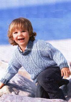 Вязание для мальчиков спицами. Пуловер