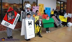 Monopoly Pieces Pin for Later: Win Halloween With These 41 Sibling Costume Ideas Monopoly Pieces Halloween Costumes For Work, Halloween Costume Contest, Halloween Boo, Halloween Couples, Halloween Halloween, Game Costumes, Group Costumes, Zombie Costumes, Family Costumes