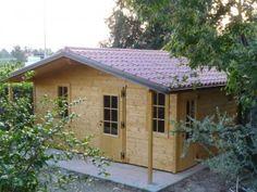 Casetta mt 5 x 4 con copertura isolata con pannelli fintocoppo coibentati, completa di grondaie,  con finestre grandi.