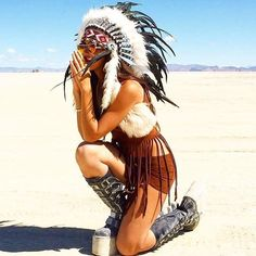 Pin by burner lifestyle on women's fashion inspiration in 2019 индеец, Burning Man Style, Burning Man Fashion, Burning Man Outfits, Native American Dress, Native American Headdress, Native American Beauty, Mens Fashion Summer Outfits, War Bonnet, Music Festival Outfits