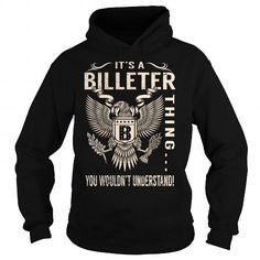 Awesome Tee Its a BILLETER Thing You Wouldnt Understand - Last Name, Surname T-Shirt (Eagle) T shirts