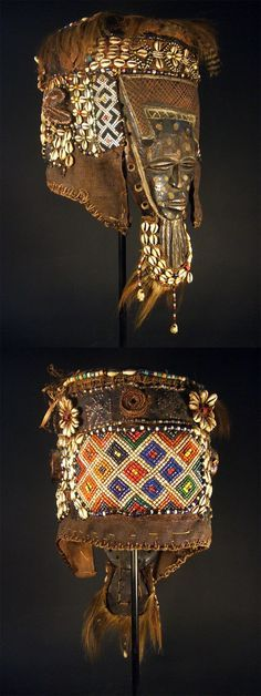 Africa   Mask from the Lele people of DR Congo   Wood, glass - Google Search