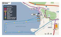 2012 Ironman Austria swim one-loop swim course map