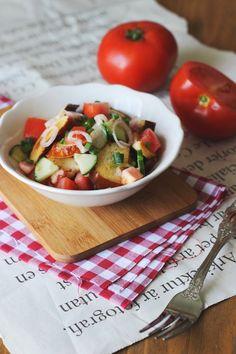 Laugenbrezel-Salat. Rezept von Tati Cupcake
