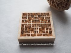 Maple wood  Korean traditional window pattern 완자무늬 Traditional Windows, Korean Traditional, Wood Patterns, Unique Jewelry, Handmade Gifts, Fun, Crafts, Vintage, Design
