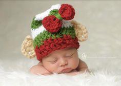 Adorable Crocheted Elf Hat