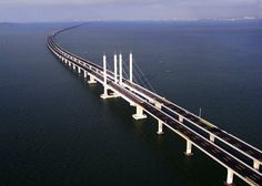 The Jiaozhou Bay Bridge in China - http://architectism.com/the-worlds-longest-sea-bridge-the-jiaozhou-bay-bridge/