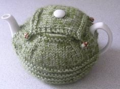 Tea cozy - would work for a classic teapot as shown, or a top handle teapot.