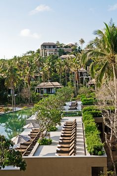 Tropical perches nested right in the cliffside provide stunning vistas - Ko Samui