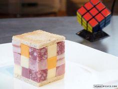 eatable rubik's cube sandwich