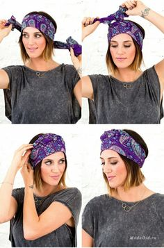 The most stylish scarf binding models - Head Wraps Hair Scarf Styles, Curly Hair Styles, Natural Hair Styles, Turban Mode, Gossip Girl Serie, Corte Y Color, Headband Hairstyles, Boho Hairstyles, Updo Hairstyle