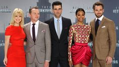 The 'Star Trek' cast while promoting sequel 'Into Darkness' - AP Images