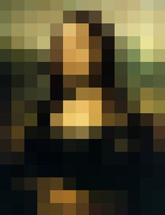 pixelated mona lisa [+ short article & other examples] Appropriation Art, Mona Lisa, Pix Art, Diy Wall Art, Graphic Illustration, Illusions, Art Projects, Poster Prints, Digital Art