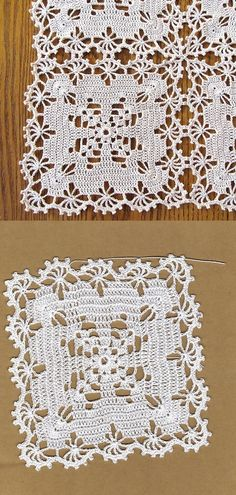 Crochet Letters Pattern, Crochet Coaster Pattern, Crochet Doily Diagram, Crochet Flower Tutorial, Crochet Stitches Patterns, Doily Patterns, Crochet Squares, Filet Crochet, Crochet Motif