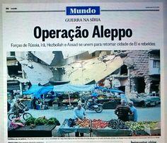 Feira livre para em #Aleppo, #Síria, no #Globo de hoje /É pra acabar!