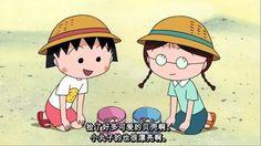 Dibujos animados manga Chibi Maruko Chan, Maruko y su amiguita Tamae jugando a los exploradores! ---- Cartoons manga Chibi Maruko Chan, Maruko and her friend Tamae Honami playing to be explorers!