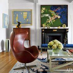 Novelist Jay McInerneyu0027s Eccentric New York Penthouse. Egg ChairWomb ...