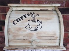 Coffee Center  Upcycled Bread Box Keeper Box by AlteredRemix, $34.50